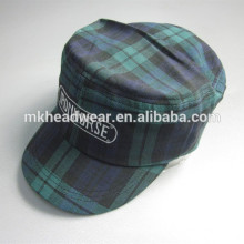 2014 new style plaid embroidery military cap
