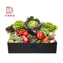 China-starker schwarzer kreativer Gemüsekartonkastenpreis des kundenspezifischen Logos