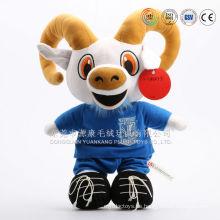 Venta caliente 2015 año nuevo mascota felpa peluche ovejas, felpa lindo bebé cabra juguetes