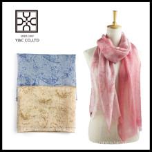 Primavera y verano húmedo multicolor mujeres moda bufanda de algodón de seda