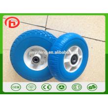 Rueda de goma de alta calidad de la espuma de la PU del borde plástico de 8 pulgadas para el mercado de Japón, Corea del Sur