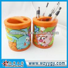 porte-stylo en plastique mignon avec couverture pvc souple