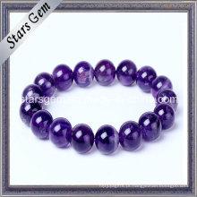 Hot Venda Pulseira Beads Natural Amethyst