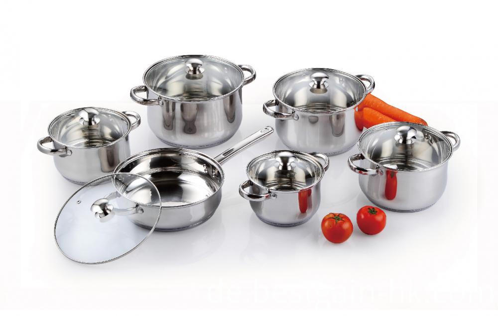 Cookware Set with Glass Lid