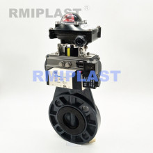 Plastic Pneumatic Butterfly Valve Double Acting
