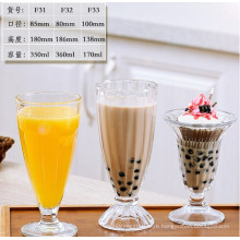 Footed Clear Glass 8 Oz. Dessert Ice Cream Dishes Bowl Passion Footed Glass Ice Cream Dessert Dish Bowl