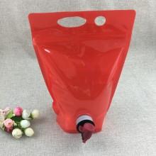 Reißverschluss oben Bag-in-Box mit Absperrklappe für Absperrklappen