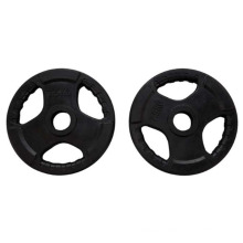 Wholesale Gym Fitness Barbell Tri Grip Black Weight Lifting Plates