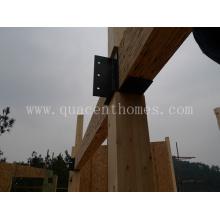 Casa pré-fabricada com vigas e vigas laminadas