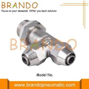 Male Run Tee Swivel Quick Twist pneumatische fitting