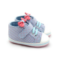 Bow-Knot Wave Point Baby Girls Calzado deportivo