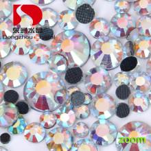 Sans plomb coupe brillante Flat Back Hotfix strass pour garniture de robe de mariage et perles