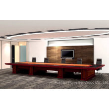 Mesa de conferência de madeira de nível superior de madeira (HF-Ltd080)