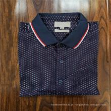 98% Algodão 2% Lycra Tricô Camiseta Polo Masculina
