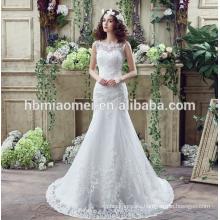 suzhou white embroidered beading bride wedding dress with big tail
