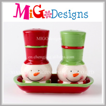 Christmas Gifts Salt and Pepper Shakers Set with Tray