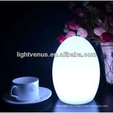 Huevo 15 colores de forma intermitente de huevo de mesa