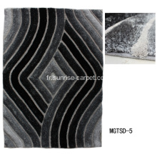 Elastic & Silk 3D Shaggy With Microfiber Carpet