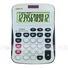 Calculadora de mesa de energia solar de 12 dígitos com grande sala para impressão de logotipo (LC257-12D)