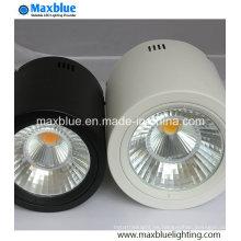 15W Negro / Blanco Dimmble Open Mount LED Downlight