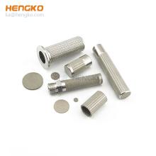 Sintered micron porous stainless steel filter cartridge housings