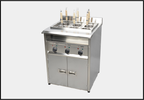 Electric pasta cooker used in fast food restaurants