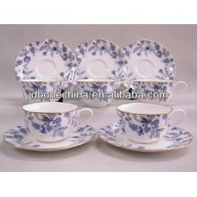 2014 new product Chinese stylish royal fine bone china ceramic 2pcs 4pcs 12pcs 13pcs 15pcs turkish tea set