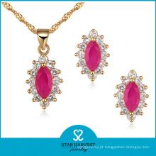 Atacado rosa jóias de prata rosa definido em estoque (j-0043)