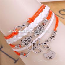 Multilayer Fashion leather custom bracelet