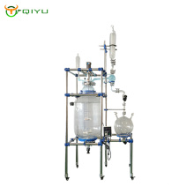 Process lab double jacketed glass reactor system