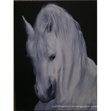 Handgemachtes modernes Pferd Ölgemälde auf Leinwand für Wanddekoration (AN-002)