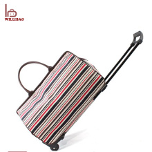 Waterproof Polyester Vintage Trolley Travel Duffle Bag