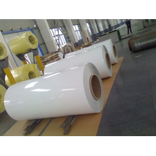 Matière en PVC revêtue de PVC pour le côté Argent Couleur dorée