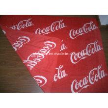 Doule Sides Printed Coca-Cola Fleece Blanket (SSB0135)