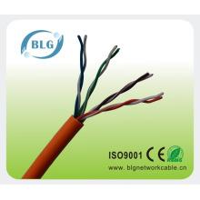 Facoty price Cable cat5 de cobre sólido para comunicación LAN