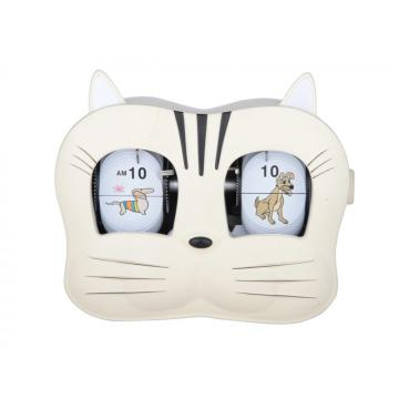 Head Flip Clock Lovely Kitty Cat