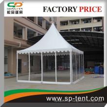 Tente de pagode transparente de tente de 5 m par 5 m en châssis en aluminium avec doublure