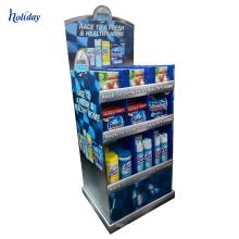Retail clock cardboard floor standing display units stand for supermarket