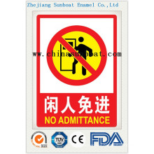Enamel Customized Safety Warning Signs