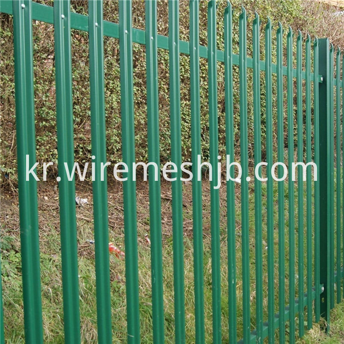 Plastic Coated Palisade Fencing