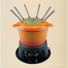 European Popular Gusseisen Kochgeschirr Fondue Set