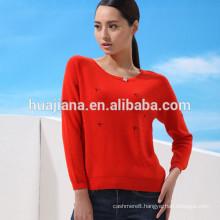 woman's cashmere basic sweater