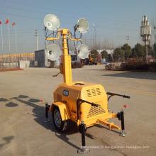Tours portatives mobiles de lumière d'inondation de stade de sports de générateur FZMTC-1000B