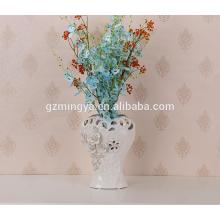 China high quality hot selling china flower pottery ceramic flower vase home decor flower vase