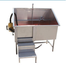 Stainless steel Pet bathtub pet pedal bath sink with hair dryer machine