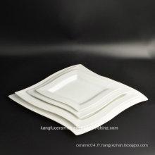 Plaque de dîner en porcelaine 4PCS résistante à la chaleur