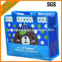 Laminated non woven tote bag with sweet cartoon picture