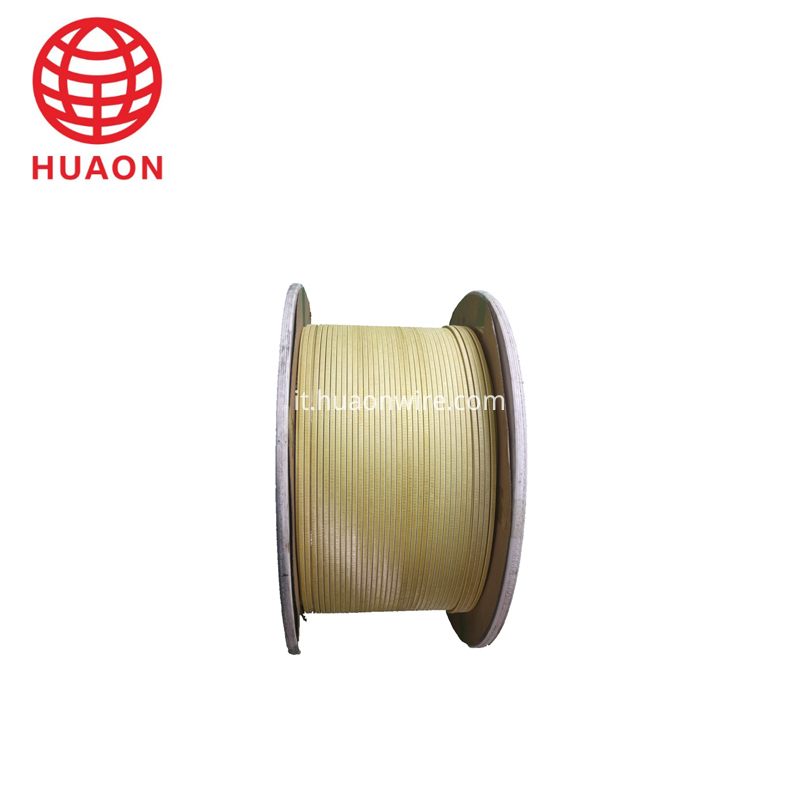 Glass Fiber Covered Flat Aluminium Wire