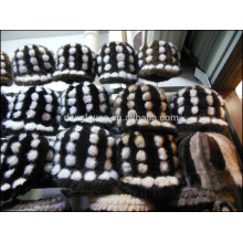 Lady Mink Fur Cap For Winter With Small Balls