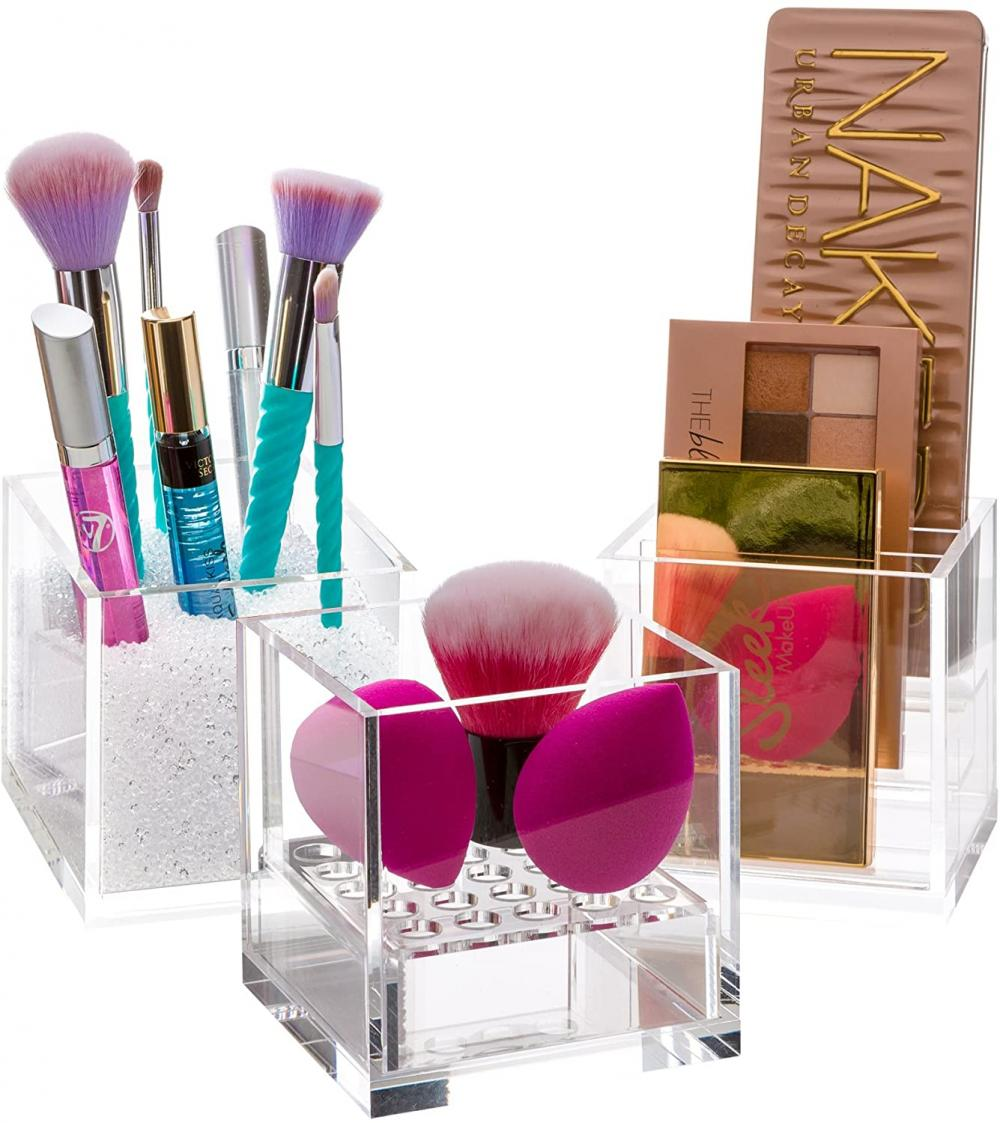 Acrylic Cube Makeup Holder